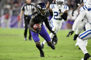 """Ravens wide receiver Marquise """"Hollywood"""" Brown"""