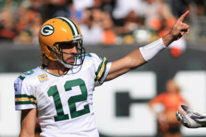 Packers quarterback Aaron Rodgers
