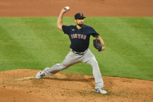 Red Sox starting pitcher Nathan Eovaldi